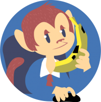 Monkey Answering Phone